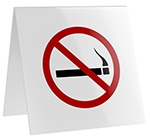 No-Smoking Table Sign